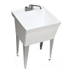 Swan   Swan 23.375x21.625x33 Veritek Utility Tub, White   Utility Sinks