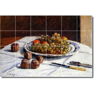 Rikki Knight 8 x 8 Alfred Sisley Banks of The Loing in Moret Design Ceramic Art Tile