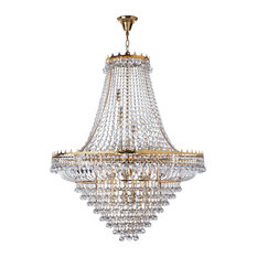 Versailles 19-Light Clear Crystal Chandelier, Gold