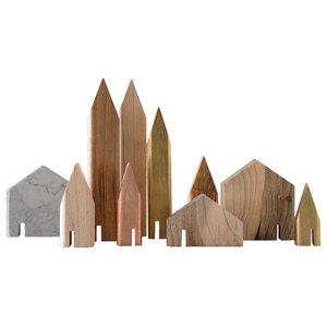 10-Piece Mini Houses Set