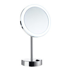 Outline LED Duel Lighted Make-Up Mirror, Warm/Cool Lighted, Polished Chrome