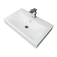 Affordablevariety Bathroom Ceramic Basin Rectangular Sink White 23 6 X 18 1