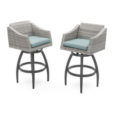 Cannes Swivel Outdoor Bar Stools, Set of 2 by RST Brands, Aqua