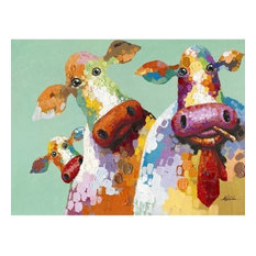 Yosemite Home D'cor Original Painting: Curious Cows, ARTAC0583C