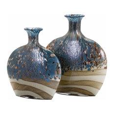 Imax Nordiak Glass, Set of 2 Vase