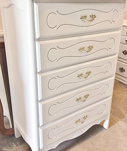 Kemp French Provincial Chest Of Drawers White