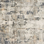 """Loloi - Cascade Area Rug, Ivory/Natural, 5'3""""x7'8"""" - Fluid in design and awash with color, the Cascade Collection features textural strokes reminiscent of natural topographies. Power-loomed in Turkey, Cascade artfully pairs viscose and polyester fibers for a high-end appearance, minus the high-end price."""