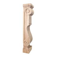 Scandinavian Romanesque Wood Fireplace / Mantel Corbel.8 x 6 x 36.: Cherry.