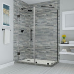 """Aston - Bromley 65.25""""-66.25""""x30.375""""x72"""" Frameless Corner Hinged Shower Enclosure - The Bromley Frameless Shower Enclosure combines quality construction with elegant craftsmanship to offer the best in contemporary styling and functionality.  Available in a vast array of ready to install dimensions, theBromley frameless shower enclosure is comprised of durable stainless steel hardware and premium clear 3/8 in. ANSI-certified tempered glass with StarCast by EnduroShield coating, that allows your shower to stay beautiful for years to come.  The Bromley's inline wall channel provides up to 1 in. of adjustability to ensure a seamless installation, while its hinged door is designed for a left or right-hand opening.  Let the Bromley frameless enclosure become your next custom-style, personalized corner showering solution.  Shower base not available. Images are for representation only. Once installed, glass may differ slightly than shown in image due to the nature of light absorption and reflection from your own bathroom's color, design or decor palette. This is normal and should be expected in certain scenarios due to the glass's natural composition."""