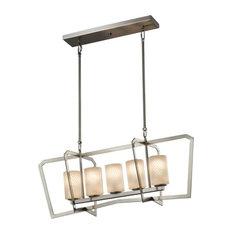 Justice Design Group FSN-8015-10-WEVE Fusion Chandelier, LED
