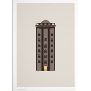 """Round Tower"" Poster, Day, 50x70 cm"