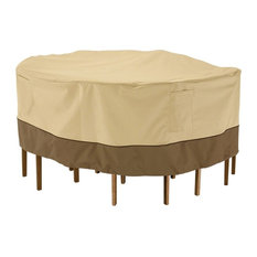 Classic Accessories 78942 Veranda Round Patio Table and Chair Set Cover, Large