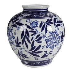 A&B Home - Blue and White Porcelain Vase - Vases