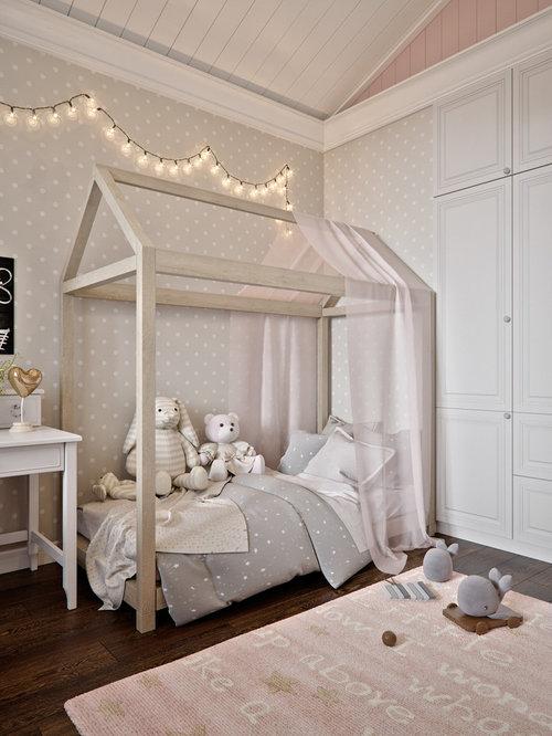 Transitional Girl Dark Wood Floor And Brown Floor Kidsu0027 Room Idea In Saint  Petersburg With