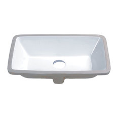 "Vanity Fantasies ""Basin"" Porcelain Rectangular Undermount Vanity Sink, Bisque"