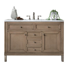 Chicago 48-inch Vanity White Washed Walnut 3cm Classic White Quartz Top