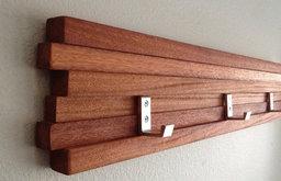 Coat Rack Five Hook Modern Key Hat Minimalist Wall Hanging By MODBOX