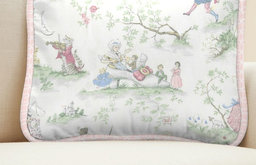 Pink Over the Moon Toile Decorative Pillow
