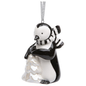 Penguin Holding A Christmas Tree Ornament