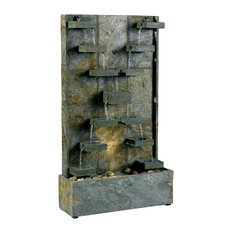 Kenroyhome.com   Natural Green Slate Indoor/Outdoor Floor Fountain   Outdoor  Fountains And