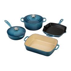 Le Creuset Signature Marine Enameled Cast Iron 6 Piece Cookware Set