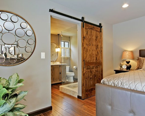 bathroom barn door houzz. Black Bedroom Furniture Sets. Home Design Ideas
