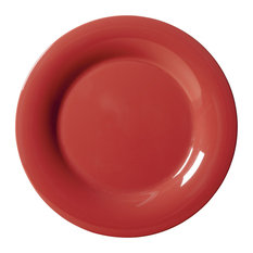 G E T Enterprises Inc - 5.5  Wide Rim Plate Set of 4 Cranberry -  sc 1 st  Houzz & 50 Most Popular Pink Dinnerware Sets for 2018 | Houzz
