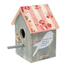 Wondernology Illuminated Birdhouse, Grey and Pink