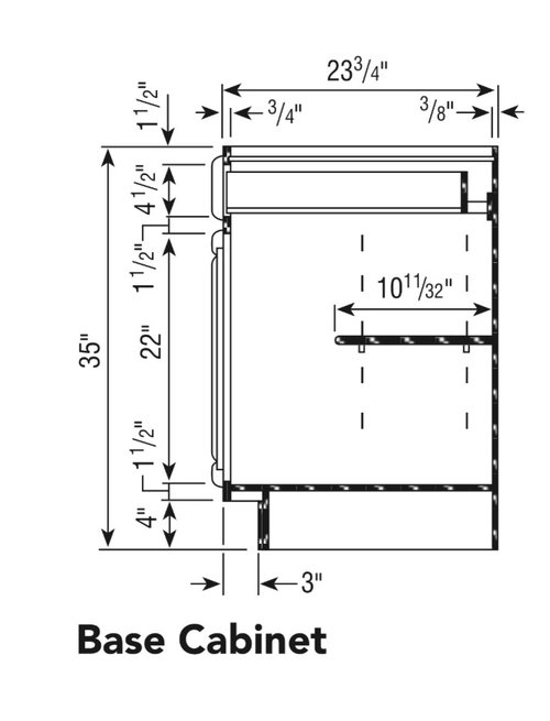 Half Depth Shelves, What Is Depth Of Kitchen Cabinets