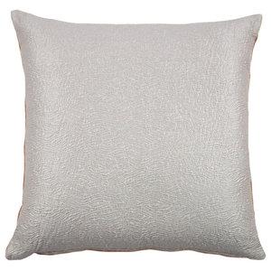 Semplice Cushion, Orange and Silver