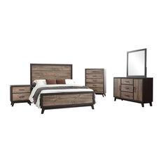 rustic king bedroom set. Pilaster Designs  6 Piece Calista Bedroom Set King Furniture Sets Rustic Houzz