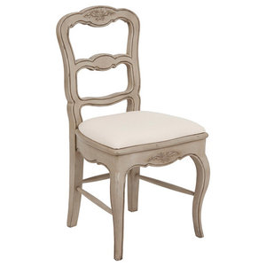 Chateau Louise Dining Chair, Aged Grey, Fabric Seat