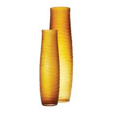 Lazy Susan Umber Matte Cut Vases, 2-Piece Set