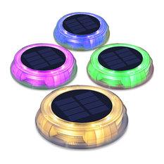 Solar Power RGB LED Water Garden Decor Light