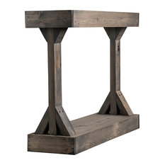 Barb Small Console Table Solid Wood by Del Hutson Designs, Gray