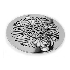 designer drains greek anthemion shower drain brushed stainless steel and nickel tub and