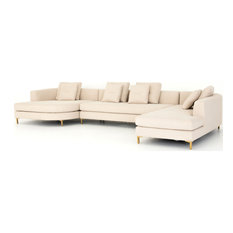 Glenna 3-Piece Right Arm Sectional With Bumper Chaise