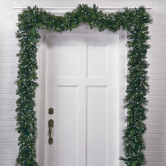 - Manhattan Outdoor Pre-lit Greenery Collection - Seasonal Outdoor Decorations