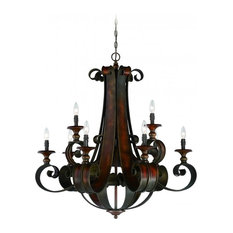 Spanish chandeliers houzz craftmade spanish tuscan casual seville 9 light chandelier spanish aloadofball