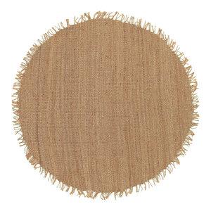 Surya JUTE NATURAL Jute Natural Natural Fibers Round Beige 6' Round Area Rug