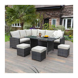 Huxley 9 Seat Dining Sofa Set