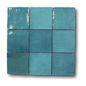 Mestizaje Zellige 5 x 5 Ceramic Tiles - Turques, 1 Sq Ft