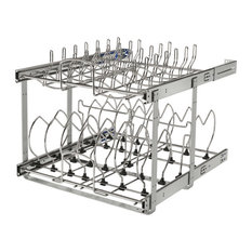 "21"" 2-Tier Cookware Organizer With Soft-Close"