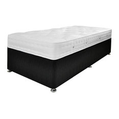 Aria Damask Mattress and Platform Divan Bed Set, Black, Single