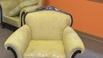 Antique King and Queen Chairs-Before