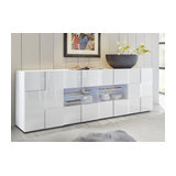 Dama (white) 2 door 4 drawer sideboard
