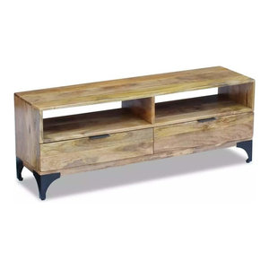 vidaXL TV Stand in Mango Wood, 120x35x45 cm