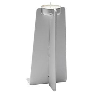 Cross Plinth Tealight Holder, White, Large