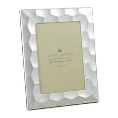 """Leeber Silver Plated Prism Picture Frame, 5""""x7"""""""