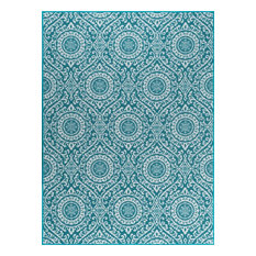 "Majesty Transitional Teal High Quality Rug, 9'3""x12'6"""